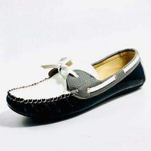 Women's Rasolli Three Tone Slip-on Loafers.